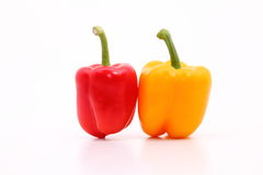 Capsicum. S on the white background Royalty Free Stock Photo