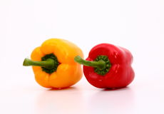 Capsicum. S on the white background Stock Photos