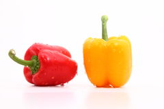 Capsicum. S on the white background Royalty Free Stock Image