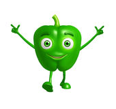 Capsicum character with pointing pose Stock Photo