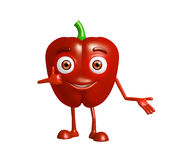Capsicum character with presentation pose Stock Photography