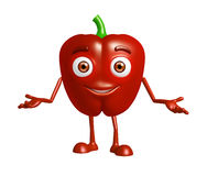 Capsicum character with presentation pose Royalty Free Stock Image