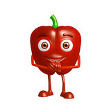 Capsicum character with promise pose Stock Photography