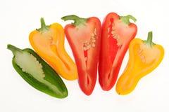 Capsicum colorido, pimenta Fotos de Stock Royalty Free