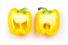 Capsicum cut into two parts Stock Images