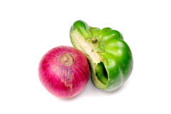 Capsicum and onion Royalty Free Stock Photo