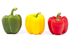 Capsicum peppers. A high resolution image of capsicums Stock Photo