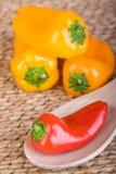 capsicum pieprzy czerwonego kolor żółty Zdjęcie Royalty Free