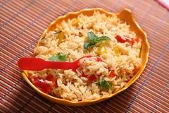 Capsicum rice, Bell Pepper rice, kuda milagai bath stock image