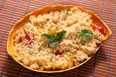 Capsicum ryż, Dzwonkowego pieprzu ryż, kuda milagai skąpanie zdjęcia stock