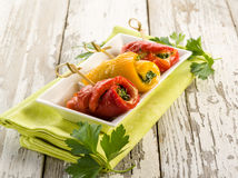 Capsicum stuffed Stock Photography