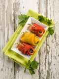 Capsicum stuffed Royalty Free Stock Images