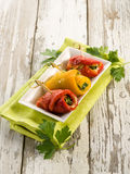 Capsicum stuffed Stock Image