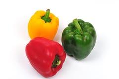 capsicums πράσινος κόκκινος κίτρι& Στοκ Εικόνες