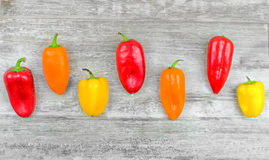 Capsicums background Royalty Free Stock Photos