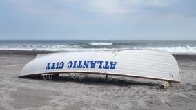 Capsized Atlantic City stock video footage