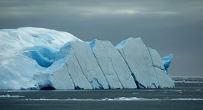 Capsized iceberg Royalty Free Stock Photo