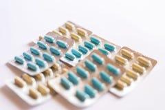 Capsles e pillole Fotografia Stock Libera da Diritti