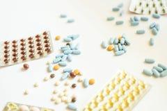 Capsles e pillole Fotografia Stock