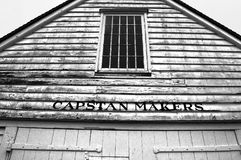 Capstan Makers Shed. In Historic Chatham Naval Dockyard Kent Royalty Free Stock Photo