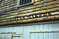 Capstan Makers Shed. In Historic Chatham Naval Dockyard Kent Royalty Free Stock Images