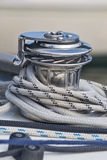 Capstan on a Sailboat Royalty Free Stock Photography