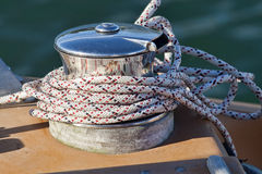 Capstan on a Sailboat - 2503 Royalty Free Stock Images