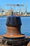 Capstan in a Shipyard Stock Photo