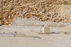 Capstone at Dashur pyramid, Egypt Royalty Free Stock Photos