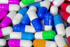Capsula antibiotica Fotografia Stock Libera da Diritti