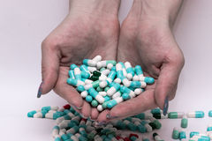 Capsula della pillola Immagine Stock