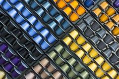 Capsula di alluminio del caffè di colori differenti Fotografie Stock Libere da Diritti