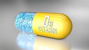 Capsula o integratori alimentari della vitamina Fotografie Stock Libere da Diritti