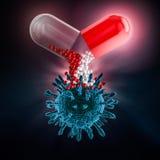 Capsula per la consegna della droga 3d illustrazione vettoriale