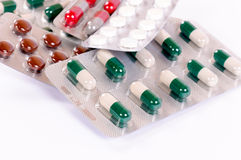 Capsulas and pills Stock Images