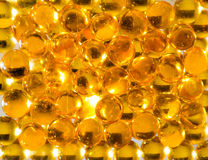 Capsulated fish oil Royalty Free Stock Image