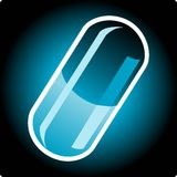 Capsule. Vector illustration of a capsule Royalty Free Stock Photography