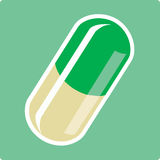 Capsule. Vector illustration file, eps format available royalty free illustration