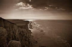 Capsule Blanc Nez, costa costa del Mar del Norte, Francia Foto de archivo libre de regalías