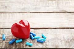 Capsule bleue de pilules Photos libres de droits