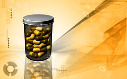 Capsule bottle Royalty Free Stock Images