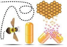 Capsule d'abeille de miel illustration libre de droits