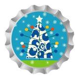 Capsule d'arbre de Noël Photos libres de droits