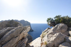 Capsule a de formentor - costa hermosa de Majorca, España Fotos de archivo
