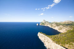 Capsule a de formentor - costa hermosa de Majorca, España Foto de archivo