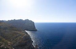 Capsule a de formentor - costa hermosa de Majorca, España Imágenes de archivo libres de regalías