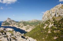 Capsule a de formentor - costa hermosa de Majorca, España Fotografía de archivo libre de regalías