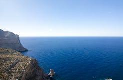 Capsule a de formentor - costa hermosa de Majorca, España - Europa Imagenes de archivo