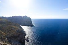 Capsule a de formentor - costa hermosa de Majorca, España - Europa Imagen de archivo
