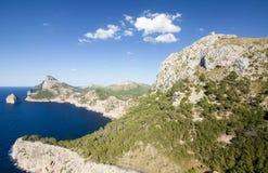 Capsule a de formentor - costa hermosa de Majorca, España - Europa Imágenes de archivo libres de regalías